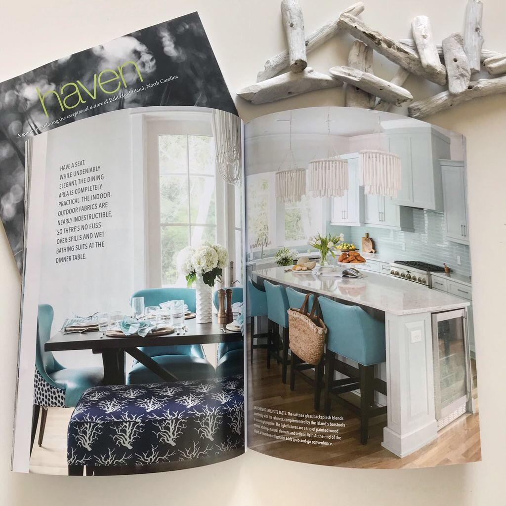 One of our latest favorite projects (so many favorites) is featured with a full home tour in the magazine. & Southern Studio Interior Design   North Carolina Interior Design